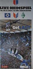 Programm 2014/15 HSV Hamburger SV - Werder Bremen