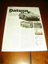 1974 DATSUN 260Z  ***ORIGINAL 2014 ARTICLE***