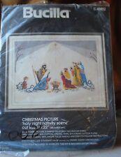 Bucilla Holy Night Nativity Scene 48812 Christmas opened Crewel Embroidery Kit
