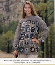 Ladies Granny Square Pullover (S M L) Vanna Crochet Pattern NEW