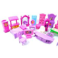 Plastic Furniture Doll House Family Christmas Xmas Toy Set for Kids Children as