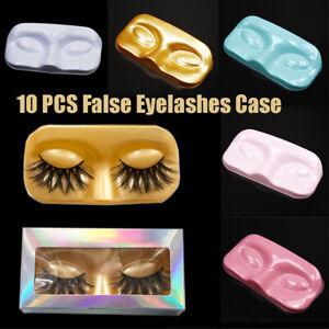 10pcs Face Shape Packaging Box Eyelash Trays Lashes Storage False Case Eyelashes