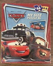 *PRE-OWNED* MATTEL DISNEY PIXAR CARS MY SIZE PUZZLE 46 PCS 24x36in ALL INCLUDED