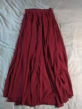 Chicwish Women's Solid Chiffon Maxi Skirt SV3 Red Small NWT