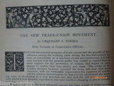 Trade Union Movement Vicar of Wakefield Illustrators Old Victorian Articles 1890