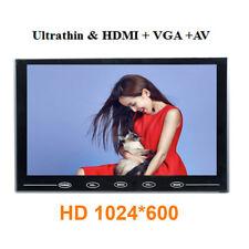 "Ultra Thin 9"" LCD Monitor Touch Button AV/VGA/HDMI for DSLR Raspberry 1024*600"