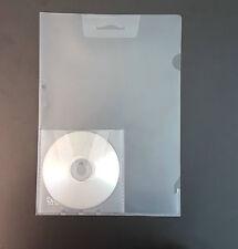 10 Stück Dokumententaschen A4 transparent klar Klarsichthüllen m. CD-Tasche