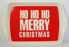 Ho Ho Ho Small Serving Tray Red White Merry Christmas Xmas Present Gift NEW