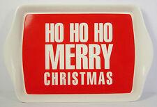 Ho Ho Ho Pequeño Bandeja Rojo Blanco Feliz Navidad Navidad Presente regalo nuevo