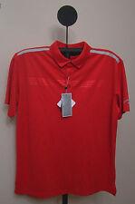 Callaway Tango Red Golf Performance Embosse  Short Sleeve Polo Shirt XL