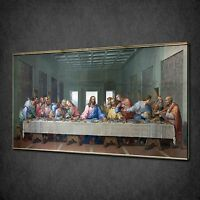 LAST SUPPER JESUS APOSTLES RELIGION CANVAS WALL ART PRINT PICTURE READY TO HANG