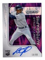 RUSNEY CASTILLO MLB 2015 PANINI PRIZM AUTOGRAPH PRIZMS PURPLE FLASH /99 (RED SOX