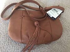 New Brown Lucky Brand Crossbody Bag 100% Leather $138 Store Price