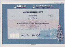 BRD Historisches Wertpapier Aktie Mühl AG, 5 DM