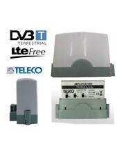 Amplificatore Antenna TV 33 DB DA PALO 2 INGRESSI UHF 1 INGRESSO VHF FILTRO LTE