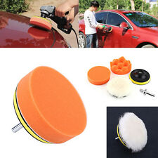 "5x 4"" Polishing Buffing Pad Kit Car Body Polisher Buffer with Drill Adapter New"