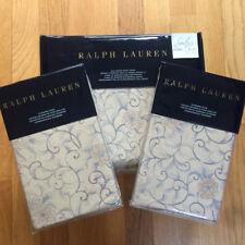 Ralph Lauren MADALENA Audrey Full QUEEN DUVET COVER SET Blue Tan Floral Cotton