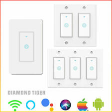 1/2/3 Gang WiFi Smart Switch Smart Light Switch Remote Control Alexa & Google