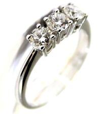 Anello Donna oro bianco 18kt 750/°°° MIRCO VISCONTI Trilogy con Diamanti