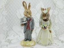 Vintage Royal Doulton Bunnykins~Bride & Groom Wedding Figurines