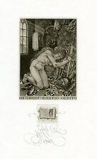 Nude,  Mythology  Ex libris Etching by Konstantin Kalinovich, Ukraine