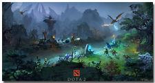 "DOTA 2 Game Art Silk Fabric Poster Print 24x46"" Team Fighting"