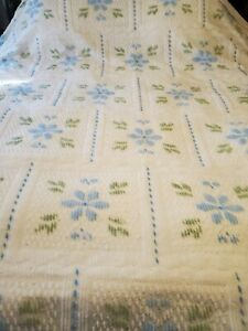 KING SHABBY Cottage CHIC CHENILLE  Bedspread Retro 40s look Bedding
