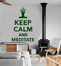 Vinyl Wall Decal Meditation Room Quote Yoga House Stickers Mural (ig3968)