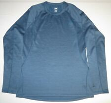 Mens The North Face Flashdry Warm Long Sleeve Crew Neck Base Layer Medium Blue