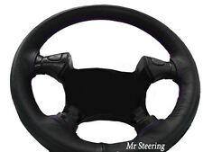 BLACK LEATHER STEERING WHEEL COVER FOR FORD MUSTANG 4 1994-2004 PURPLE STITCHING