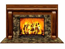 Nice 5ft Fireplace Wall Mural Winter Christmas Scene Setter Prop Party Supplies Awesome Ideas