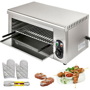 Elektrisches Überbackgerät Salamander Grill 2000W Edelstahl Temperaturregler