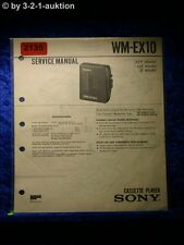 Sony Service Manual WM EX10 Cassette Player (#2135)