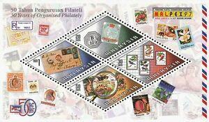 *FREE SHIP Malaysia 50 Years Philately 1997 MALPEX Birds Fruit (ms) MNH *odd