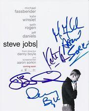 STEVE JOBS signed CAST photo MICHAEL FASSBENDER KATE WINSLET SETH ROGEN