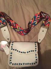 "Nwt ""Kiss Me Couture"" Small White Crossbody Style Handbag