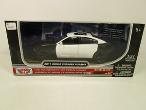 MOTORMAX 1/24 BLACK/WHITE 2011 DODGE CHARGER PURSUIT POLICE *DISCONTINUED*