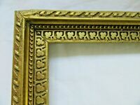 "ANTIQUE Fits 10 X 12"" Gold Gilt Picture Frame Wood GESSO Fine Art COUNTRY CLOVER"