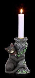 Hexen Katzen Kerzenhalter - Midnight - Nemesis Now Kätzchen Kerzenleuchter Deko