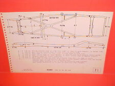 1946 1947 1948 FORD SUPER DELUXE CONVERTIBLE COUPE SEDAN FRAME DIMENSION CHART