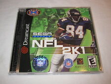 NFL 2K1 (Sega Dreamcast) Sega Sports Online Multiplayer Complete Perfect Mint!