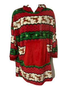 Rudolph the Red Nosed Reindeer Fleece Nightgown Sleepwear Soft Midi Size Large