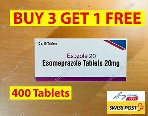 400 Tablets Esomeprazole 24HR - 20mg generic Nexium Heartburn - Acid Reducer