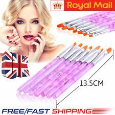 7PCS Beauty Nail Art Gel Painting Drawing Dotting Polish Tips Brush Set Kit Tool
