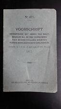 VOORSCHRIFT No 477 BREDA 1917