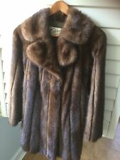 Natural Lunaraine Mink and Leather Stroller custom made by Leafgren Furs of MN