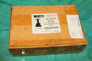 """Watts  B-3110 3/4"""" Cast Bronze Gate Valve .75"""" 150 150S 300W0G 300WOG Brass ball"""