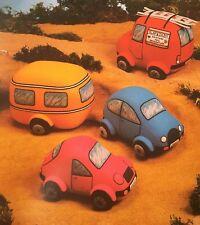 Sewing pattern Jean Greenhowe SOFT TOPS Toys Voiture Van Caravane Sports Var Pattern