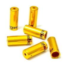 gobike88 Jagwire Ferrule Open End Caps, 5mm, 6 pieces, Gold, F09