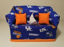 NCAA University of Kentucky Wildcats Tissue Box Cover (orange pillows) Handmade